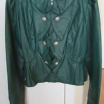 Xoxo Green Pleather Jacket  Photo