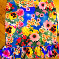 Xoxo Jeans Floral Stretchy Skirt Bright Colors Sm Photo
