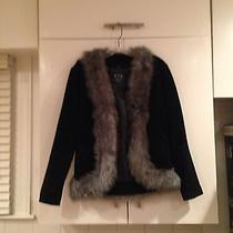 Xoxo Leather and Suede  Black Suede Jacket Small Photo