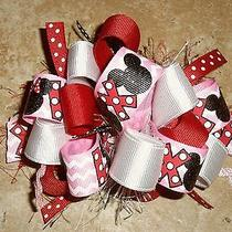 Xoxo Love Valentine's Day Minnie Mickey Mouse Disney Boutique Hairbow Photo