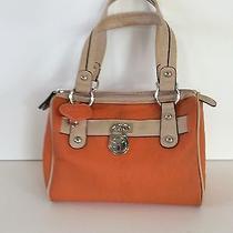 Xoxo orange&beige Small Hard Vinyl Hand/shoulder Bag Purse Display Photo