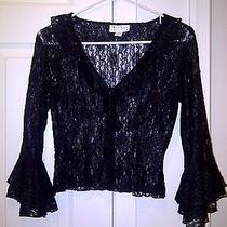 Xoxo Pure Lace Black Top.  Size Medium Photo