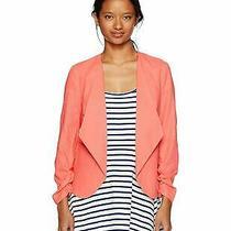 Xoxo Women's Linen Rouched Sleeve Jacket Sm Medium Sm Size Medium Photo