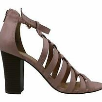 Xoxo Womens Baxter Leather Peep Toe Casual Ankle Strap Sandals Blush Size 9.0 Photo
