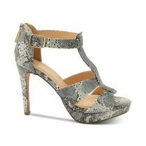 Xoxo Womens Belinda Platform Dress Sandals Leather Peep Toe Black Size 8.0 K01 Photo