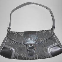 Xoxo  Womens Black/ Gray Canvas Handbag Shoulder Bag Small Evening Purse Photo