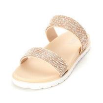 Xoxo Womens Rio1 Open Toe Casual Slide Sandals Blush  Size 7.0 Photo