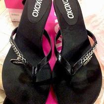Xoxo Womens Size 9 Black Leather Sandals Style Name