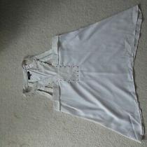 Xoxo Womens White Lace Studded Sleeveless Tank Top Shirt Size S Photo