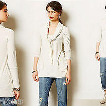 Xs Anthropologie Roundtrip Cowlneck Shirt Xsmall 0 2 Dolan Slouchy Top Grey Nwt  Photo
