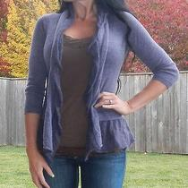 (Xs) Anthropologie 'Whipped Woolens' Purple Cardigan Sweater by Birds on a Wire Photo