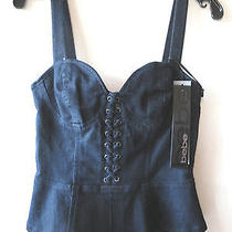 Xs Bebe Nwt  Denim Bustier Tank W/ Peplum   Tv  Wardrobe Photo