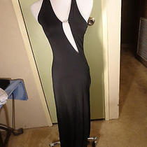 Xs Victorias Secret Long Black Dress Very Modern in Look Photo