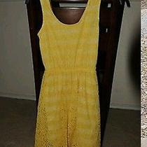 Xs Yellow Lace Mossimo Dress Photo