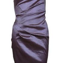 Xscape by Joanna Chen Women's One Shoulder Taffeta Dress Violet 6 Photo