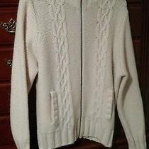 Xxl Women's Old Navy Ivory 68% Lambs Wool Long Sleeves  Sweater Photo