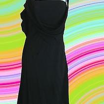 Y Yigal Azrouel Dress Sz 1 S Small  Black Cocktail Rayon Draped Asymmetric Sexy Photo