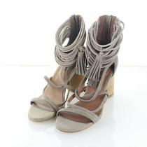 Y31 125 Women's Sz 6 M Jeffrey Campbell Despina Suede Strappy Sandal in Taupe Photo