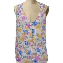 Ya Ya Nom De Plume Urban Outfitters Colorful Top Floral Semi Sheer Tank Sz L Photo