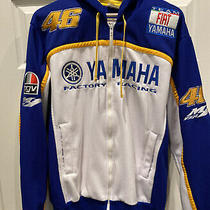 Yamaha Factory Racing Valentino Rossi 46 Track Jacket Full Zip Hoodie Size Large Photo