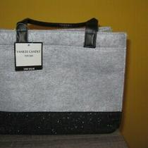 Yankee Candle Gray Tote Bag With Sparkly Black Bottom 2 Handles Bag Only Photo