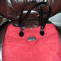 Yankee Candle Red & Black Quilted Tote Bag Purse Quilted With Patent Straps Soft Photo