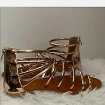Ydn Rose Gold Sexy Strappy Sandals Sz 13 Photo