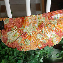 Yello Large Hobo International Patent Leather Summer Bloom Clutch Nwt 18.5