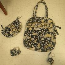 Yellow Bird Vera Bradley Purse Cosmetic Bag Change Purse and Keychain  Photo
