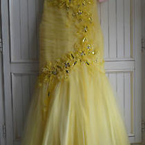 Yellow Blush Alexia Prom 9335tulle Mermaid Formal Gown Jeweled Prom Dress Size 4 Photo