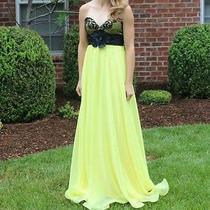 Yellow Blush Prom Formal/prom Dress Size 4 Photo