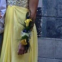 Yellow Cocktail Dress Photo