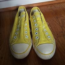 Yellow Converse Low-Tops No Laces Size 7 Photo