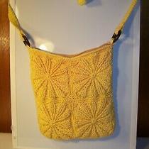 Yellow Crochet Flower Square Hobo Purse Handbag Photo