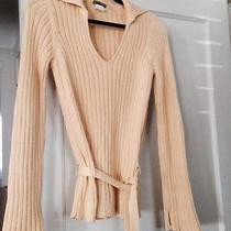 Yellow J. Crew Cable Knit Sweater Photo