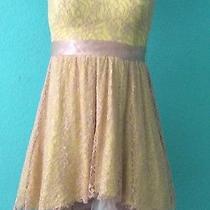 Yellow Laced Homecoming Dress  Photo