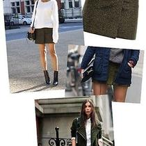 Yellow Melange Acne Studios Roxy Mini Fold Wrap Wool Short Tv Mini Skirt 34 Photo