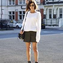 Yellow Melange Acne Studios Roxy Mini Fold Wrap Wool Short Tv Mini Skirt 34 Photo