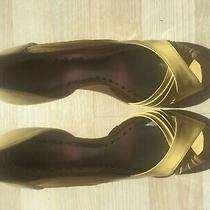 Yellow Peep Toe Heels Bcbg Maxazria Size 8 (Eu. 39 Uk. 5.5) Photo