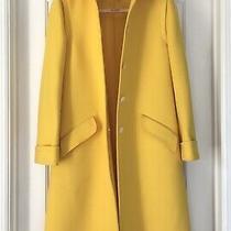 Yellow Rare Vintage Valentino Wool Coat 10 M Medium  Photo