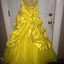 Yellow Sequin Tiffany Prom Dress Photo
