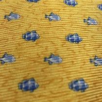 Yellow Silk Tommy Hilfiger Fish Tie Photo
