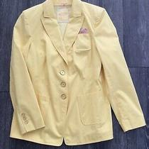 Yellow Tailored Jacket by Basler Size 16 Photo