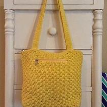 Yellow the Sak Knit Purse Handbag Shoulder Bag Double Handles Nwot Photo