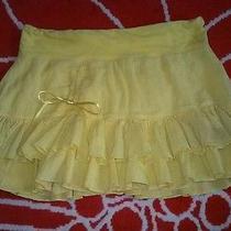 Yellow Tiered Lolita Skirt Forever 21 No Boundaries  Photo