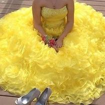Yellow Tiffany Prom Dress Medium Size 10  Photo