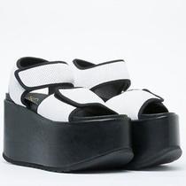Yes Slam White/black Flatform Sandal - 8.5 9 39 - Creepers - Jeffrey Campbell Photo