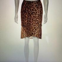 Yigal Azrouel Animal Print Brown and Beige Skirt Size S Photo