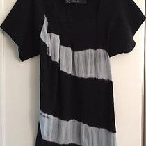 Yigal Azrouel Barney's New York Black Blue Tie Dyed Dress L Wow 850 Photo