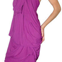Yigal Azrouel Bead Necklace Jersey Chiffon Dress 3 Photo